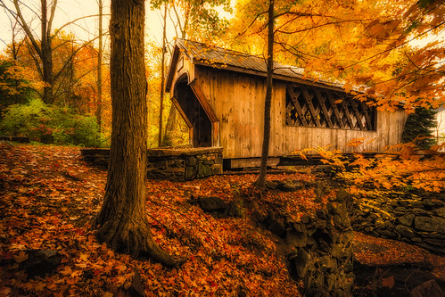 bridge autumn trees fall newengland newhampshire nh foliage coveredbridge tanneryhillcoveredbridge robertallanclifford robertallancliffordcom