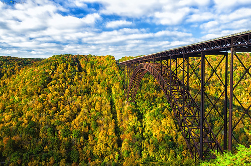 bridge autumn light shadow sky fall colors clouds season colorful arch pentax steel foliage westvirginia span newrivergorge k30 da18135wr