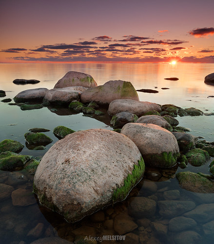 sunset sea sun clouds sunrise landscape nikon stones baltic latvia d800 cokin latvija 16354 singhray melsitov