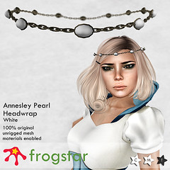 Frogstar - Annesley Pearl Headwrap Poster (White)