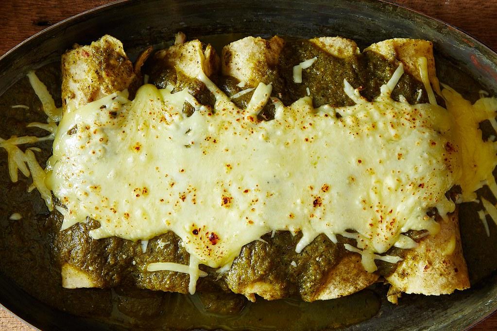 Enchiladas Suizas With Chicken Recipe — Dishmaps