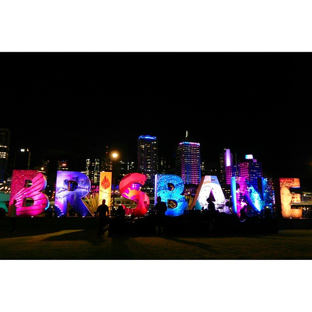 Color threw up on Brisbane this evening and it was beyond fantastic. How lucky are we that we ended up here? #noregrets