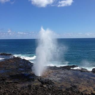 Spouting Horn sightseeing in Kauai