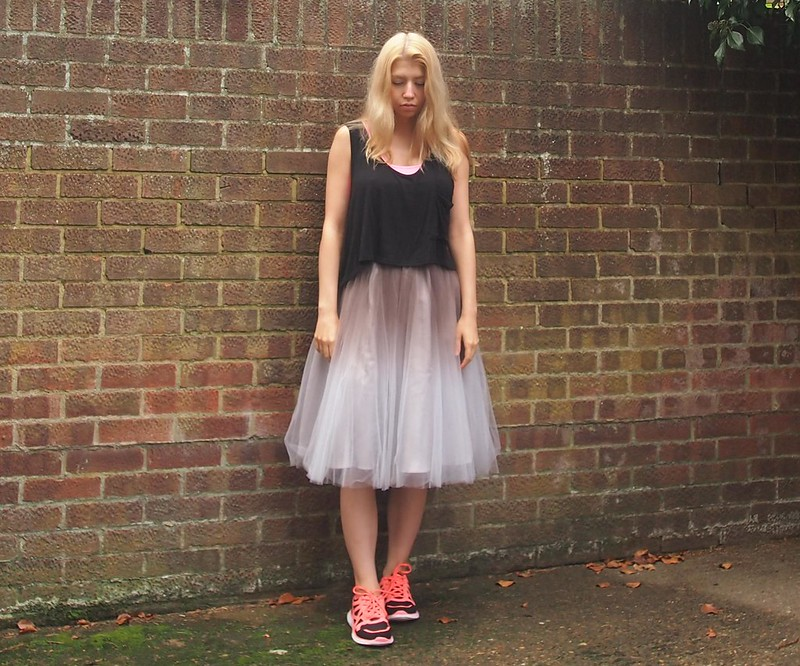 How to Wear Trainers, Neon, Primark, Tutu, Midi Skirt, Coast, Ombre, Outfit Inspiration, Styling Ideas, AW14, UK Fashion Blog, London Style Blogger, Sam Muses