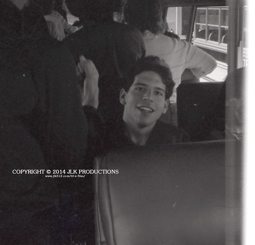 Tri-X Files 84_28.21a: Keith and Mystery Seatmate on the Bus