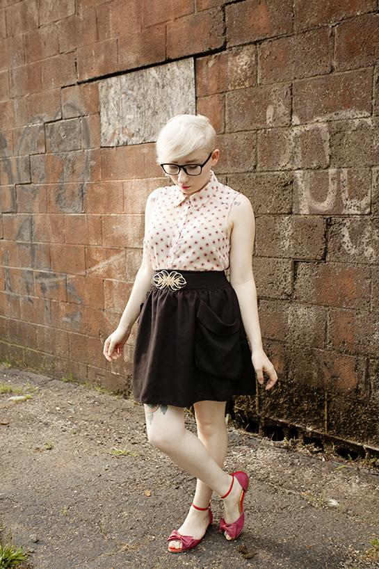 summer, style, pixie cut, blonde pixie, ootd, floral print