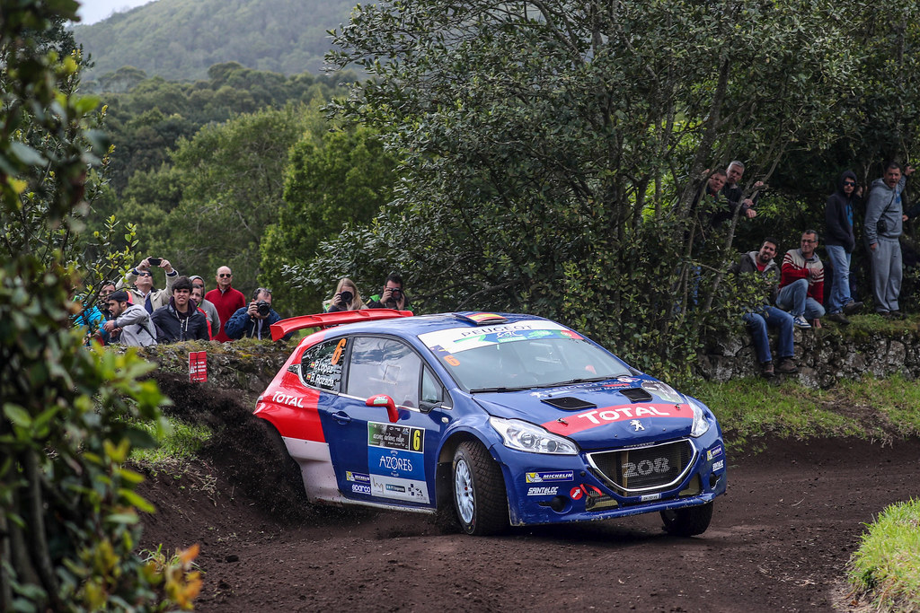 06 LOPEZ Jose Maria HERNANDEZ Borja Peugeot 208 T16 Action during the 2017 European Rally Championship ERC Azores rally,  from March 30  to April 1, at Ponta Delgada Portugal - Photo Jorge Cunha / DPPI