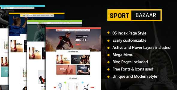 Sport Bazzar WordPress Theme free download