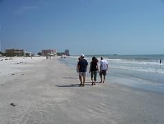 Indian Shores, Florida, walking along the beach