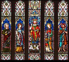 Elijah, Blessed Virgin, Christ in Majesty, St John the Evangelist, St John the Baptist (Lavers & Barraud, 1867)