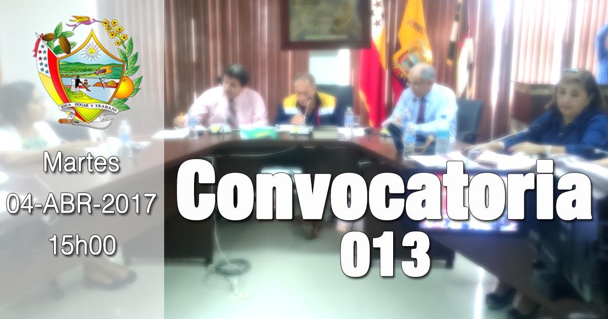 Convocatoria 013