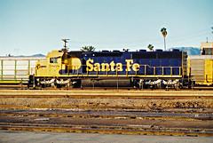 Santa Fe SD45-2 No. 5868 At San Bernardino