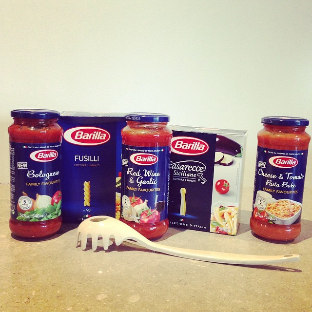 Always grateful to be sent goodies from @barillaaus - the only pasta that doesn't make my tummy hysterical #Italianflour
