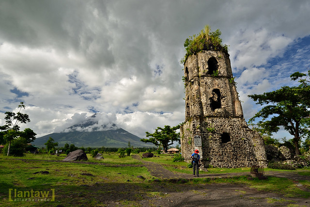 Bell tower at Cagsawa Ruins