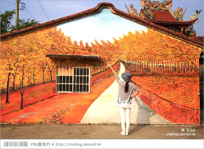 【關廟彩繪村】新光里彩繪村~在北寮老街裡散步‧遇見全台最藝術風味的彩繪村8