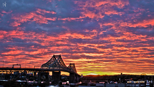 city bridge autumn panorama fall clouds photoshop sunrise montreal fujifilm hdr 2014 jacquescartierbridge brunolaliberté