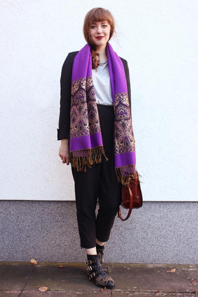 Vintage patterned scarf - gemusterter schal orientalisch