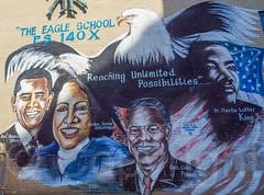 REACHING UNLIMITED POSSIBILITIES Graffiti Mural, Bronx, New York City