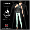Angel Dessous-Brina-casual-petrol