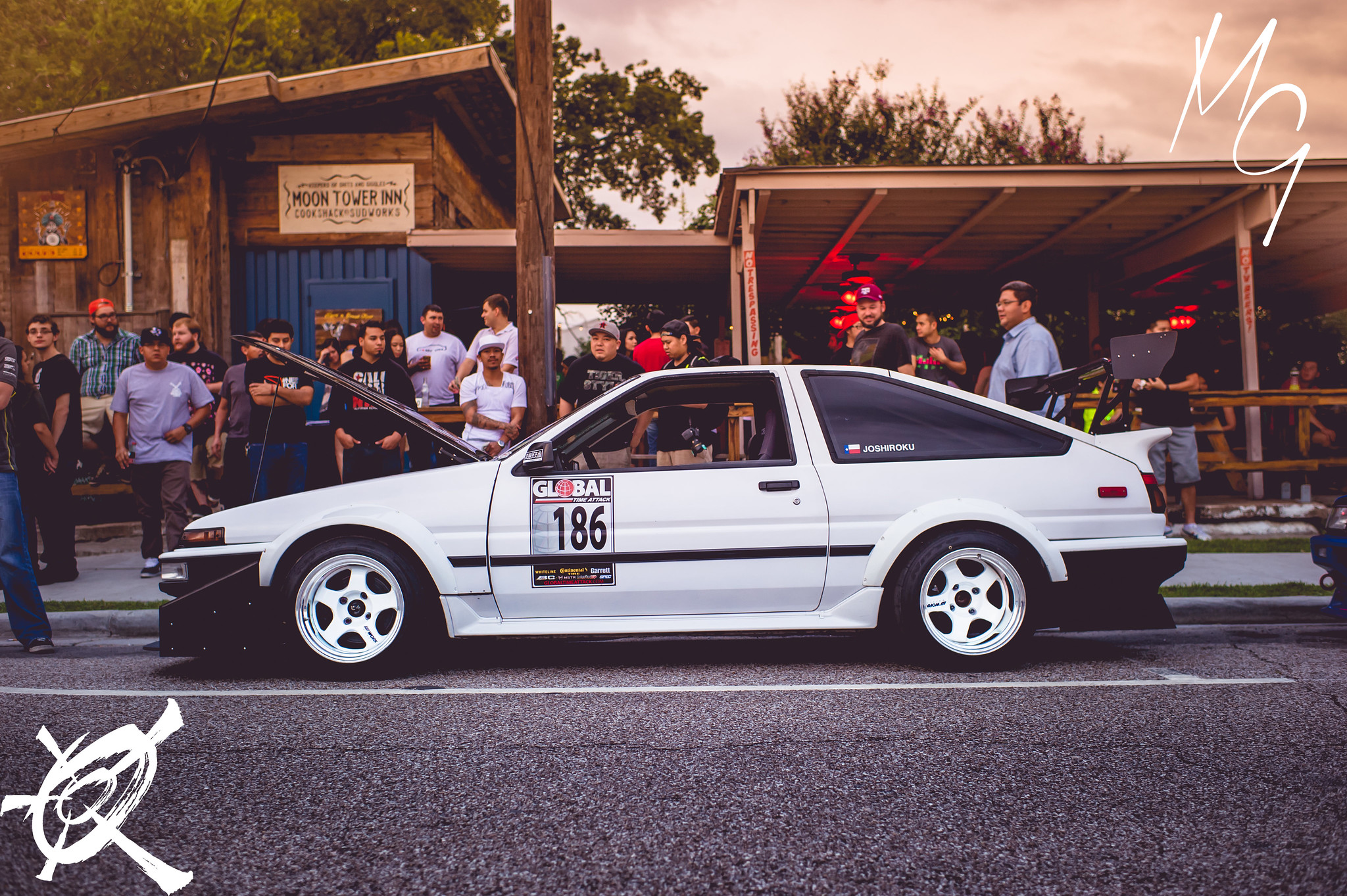 Josh Garcia's Time Attack V8 powered Trueno Hatch- with gigantic wing