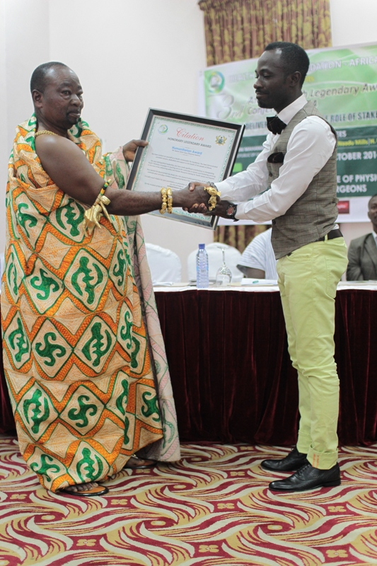 Okyeame Kwame honoured at 3rd Annual Health Legendary Awards and Conference