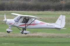 G-CDYT - 2006 build Comco Ikarus C42 FB80, departing from Runway 26R at barton