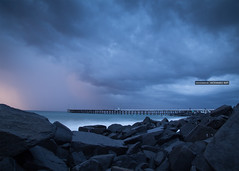 Puducherry Harbor with stormy cloud