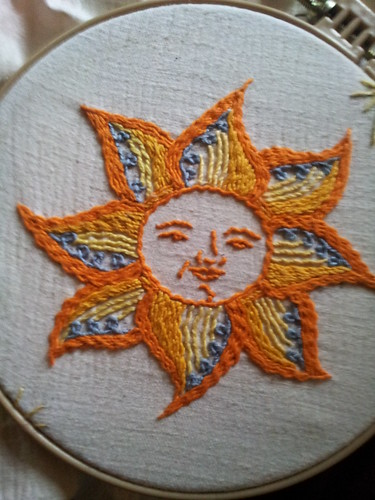 Feeling stitchy patterns sun embroidery