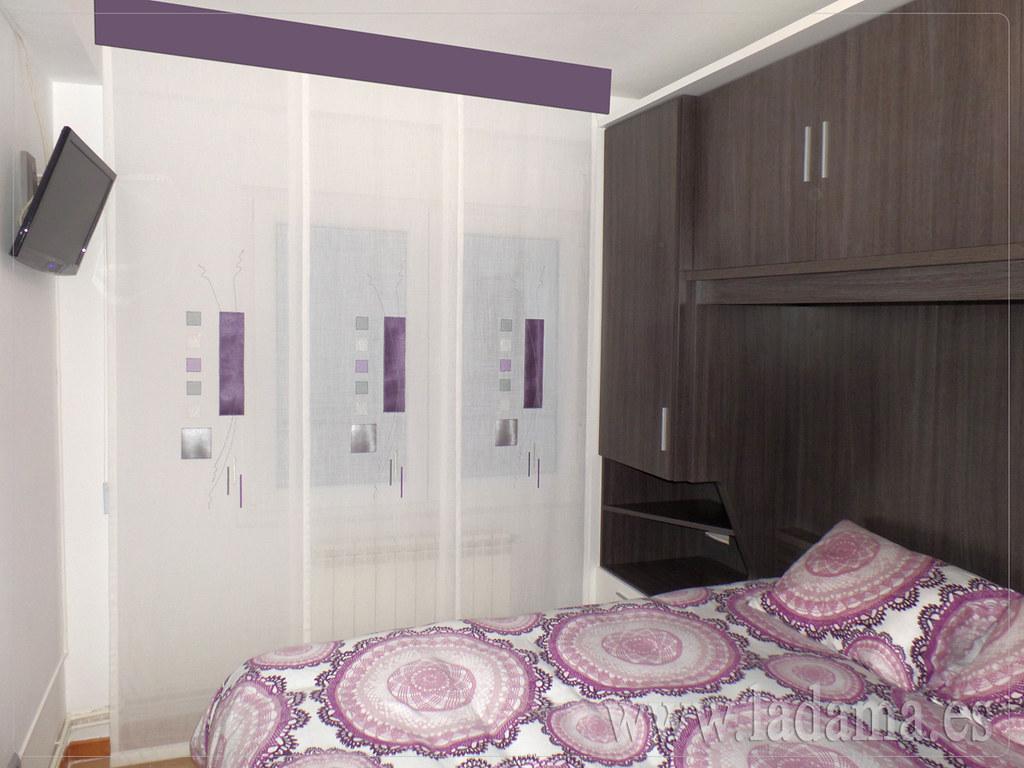 Fotograf as de dormitorios modernos la dama decoraci n - Estores con bando ...