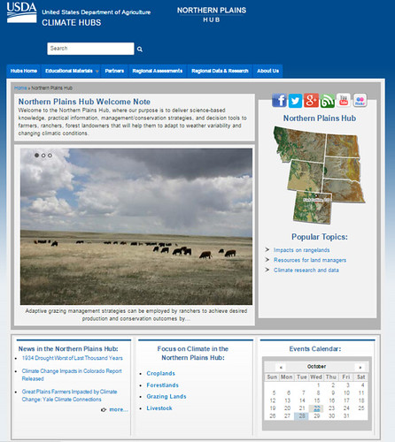 The new Climate Hubs Northern Plains website provides producers with science-based information.