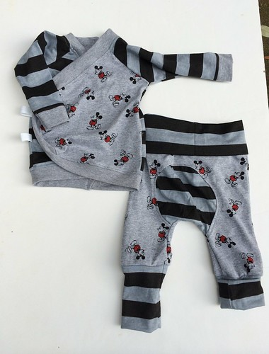 Bumstoppers BumSpot Pants 0-6 months 0-3  Kimono Grey Mouse