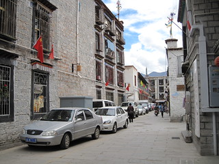 Lhasa back streets near our hotel