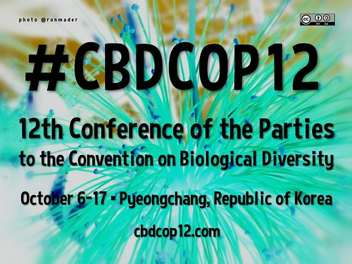 Free Poster! 12th Conference of the Parties to the Convention on Biological Diversity #CBDCOP12 @CBDNews @biodivcivsoc @CBDLifeWeb @BiodiversityNew