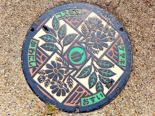 Kawanishi Nara, manhole cover 2 (奈良県川西町のマンホール2)