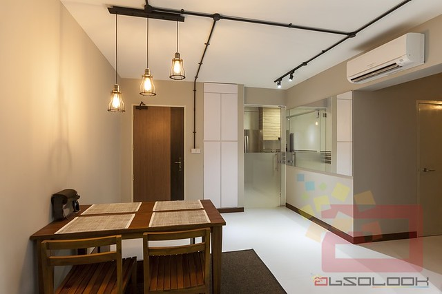 HDB 4 Room BTO Industrial Blk 175A Yung Kuang Road Interior Design Singapore