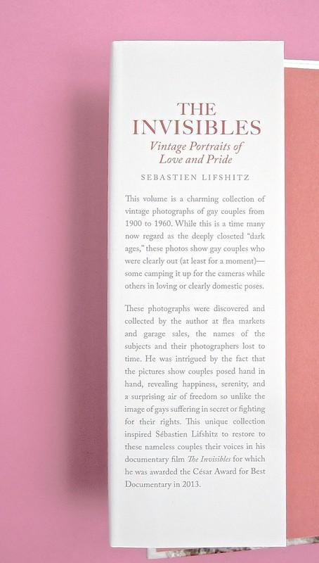 Sebastien Lifshitz, The Invisibles. Rizzoli International Publications 2014. Design: Isabelle Chemin. Risvolto della prima di sovracoperta (part.), 1