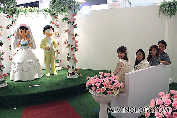 Iconic scene of Nobita getting married