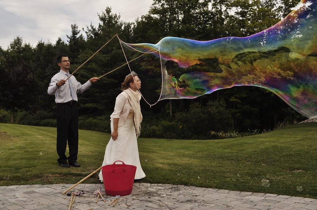 Hochzeit Seifenblasen