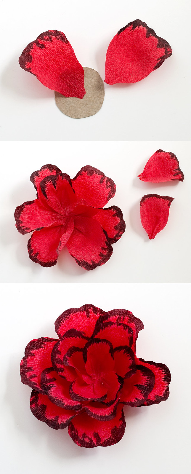 DIY Gothic Paper Rose Hair Clip