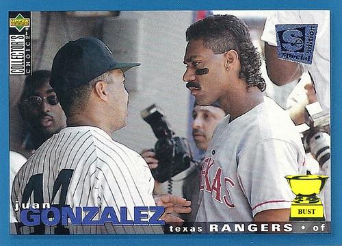 Baseball Card Bust Juan Gonzalez 1995 Upper Deck