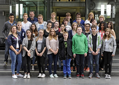 Besuchergruppe der Gesamtschule Langerfeld (10. Klasse) am 29. September 2014 im Paul-Löbe-Haus
