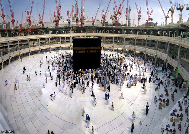 Holy #Kaaba #Mecca 180 Degrees Panorama View From Upper Deck Friday Morning.