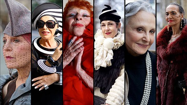 Elegant New York women over fifty are profiled in ADVANCED STYLE.