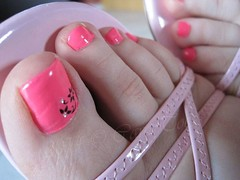 Love it when my pedicure matches to my pink pussy...