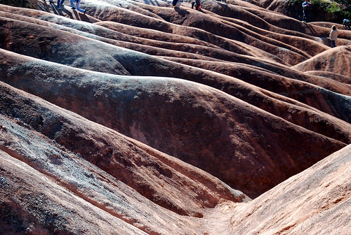 Hills and gullies of Queenston Shale at the Cheltenham Badlands, Ontario