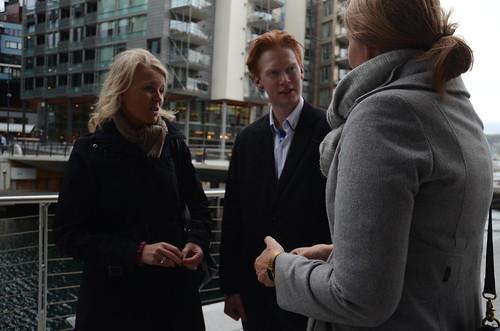 Rikard Kirkeeide Bøe (19) FRÅ Stryn med Villa Kulild, Norad, og Gry Larsen, CARE Norge