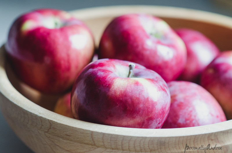 Wooden Bowl with Apples | personallyandrea.com