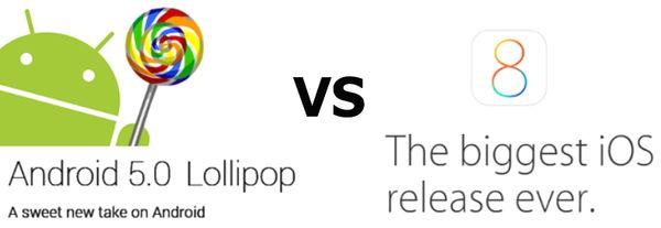 Сравнение iOS 8.1 и Android 5.0