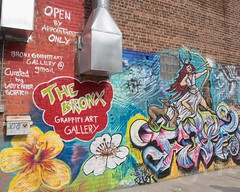 The Bronx Graffiti Art Gallery at Gustiamo Courtyard, Claremont Village, New York City