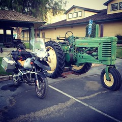 "Two classic ""tractors."" :-)"